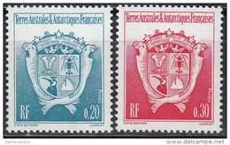TAAF 1993 Yvert 171 - 172 Neuf ** Cote (2015) 0.40 Euro Armoiries Du Territoire - Neufs