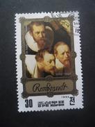 Corée Du Nord N°1741A TABLEAU De Rembrandt Oblitéré