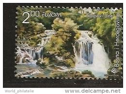 Bosnie Herzégovine 1999 N° 293 ** Europa, Réserves, Parcs Naturel, Torrent, Slapovi Une, Lac Sauvage, Eau, Cascade - Bosnia And Herzegovina