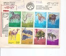 Oman -Animaux ( FDC De 1970 Voyagé En Recommandé  Vers La Belgique à Voir) - Oman