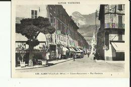 Albertville  73    340m  La Rue Gambetta Animée -Voiture-Café-Epicerie - Albertville