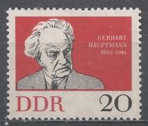 German Democratic Republic 1962. Scott #633 (MNH) Gerhart Hauptmann, Playwright * - [6] République Démocratique