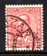 XP2246 - ALBANIA 1928 , Michel N. 191  Usato. Soprastampa Spostata - Albania