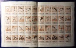 1967 ERINNOFILO - XXX CAMPAGNA NAZIONALE ANTITUBERCOLARE 10 Lire FOGLIO Da 40 Francobolli - Vedi Foto - 6. 1946-.. Repubblica