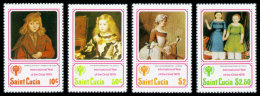 St Lucia, 1979, International Year Of The Child, IYC, UNICEF, United Nations, MNH, Michel 462-465