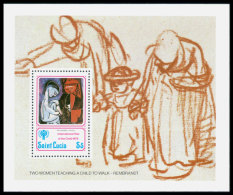 St Lucia, 1979, International Year Of The Child, IYC, UNICEF, United Nations, MNH, Michel Block 17