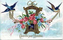 Cueilli Par L'Amitié (Circulé En 1906) - Holidays & Celebrations