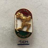 Badge (Pin) ZN004476 - Weightlifting (Dizanje Utega) Hungary Federation / Association / Union (MSS) - Weightlifting