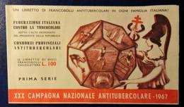 1967 ERINNOFILO - XXX CAMPAGNA NAZIONALE ANTITUBERCOLARE 10 Lire LIBRETTO Da 10 Francobolli - Vedi Foto - 6. 1946-.. Repubblica