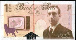 301 GB POLYMER Banknote BANK Of SHED Material TYVEK 1 Ego Walt Disney Regional Banknote London 2000 Pcs Version 1 UNC - Groot-Brittanië