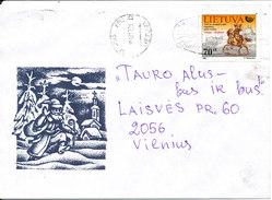 Lithuania Cover Vilnius 1-12-1998 Single Franked - Lithuania