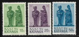 Katanga, Scott # 52-4 Mint Hinged Wood Carvings, 1961 - Katanga
