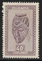 Ruanda-Urundi. Scott # 94 Mint Hinged Carved Figure, 1942 - 1924-44: Mint/hinged