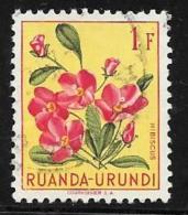 Ruanda-Urundi. Scott # 122 Used Flowers, 1953 - Ruanda-Urundi