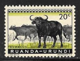 Ruanda-Urundi. Scott # 138 Mint Hinged Animals, 1959 - Ruanda-Urundi
