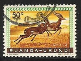 Ruanda-Urundi. Scott # 140 Used Animals, 1959 - Ruanda-Urundi