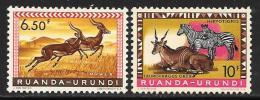 Ruanda-Urundi. Scott # 146, 148 MNH Animals, 1959 - 1948-61: Mint/hinged