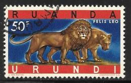 Ruanda-Urundi. Scott # 150 Used Lions, 1961 - Ruanda-Urundi