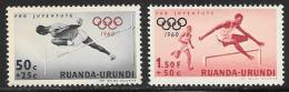 Ruanda-Urundi. Scott # B26 Mint Hinged, B27 MNH Olympics , 1960 - Ruanda-Urundi