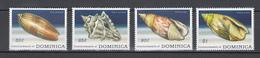 Dominica 2009,4V,set,shells,schelpen,schalen,coquilles,conchas ,conchiglie,MNH/Postfris(A3121) - Coquillages
