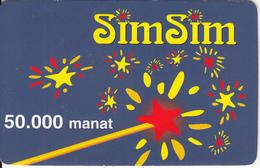 AZERBAIJAN - Stars, Azercell Prepaid Card 50000 Manat, Used