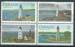 CANADA 1984 Lighthouses Of Canada Set 4v. Used Not Cancel