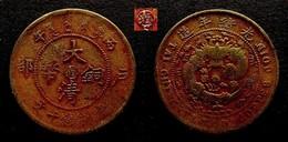 CHINA - RARE 10 CASH  COPPER - YUNNAN-SZECHUAN  PROVINCE - Fine $40  DYNASTIE QING  CHINE - China
