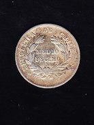CHILI KM 137.2, XF, 1/2d, SILVER 1871 . (5BP60) - Chili