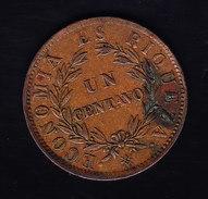 CHILI KM 127, SALE MAIS XF, 1c, 1853 . (5BP58) - Chili