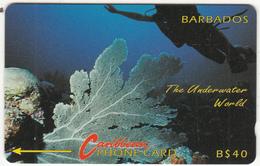 BARBADOS ISL.(GPT) - Underwater(no Logo), CN : 9CBDC, Tirage 22000, Used