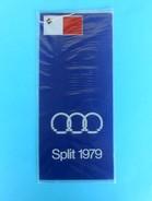 MALTA TEAM - MEDITERRANEAN GAMES 1979. - Vintage Official Table Pennant * Fanion Flag Wimpel Bandierina Banderín * Malte - Apparel, Souvenirs & Other