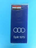 EGYPT TEAM - MEDITERRANEAN GAMES 1979. - Vintage Official Table Pennant * Fanion Flag Wimpel Bandierina Banderín  Egypte - Uniformes Recordatorios & Misc