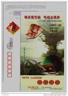 Sinosauropteryx Prima Dinosaur Fossilu,CN 2008 Chaoyang Treasure-House Of Fossil On Earth Advertising Pre-stamped Card - Postzegels
