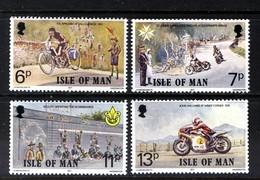 GB ISLE OF MAN IOM - 1977 ANNIVERSARIES SET (4V) FINE MNH ** - Motorbikes