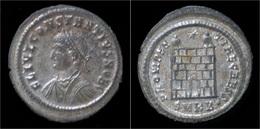 Constantius II Silvered AE3 Campgate - 7. L'Empire Chrétien (307 à 363)
