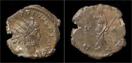 Victorinus Billon Antoninianus Pax Standing Left - 5. L'Anarchie Militaire (235 à 284)