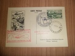 Carte Expo Centilux Strasbourg Le 01/06/1952 Premier Transport Postal Par Hélicoptère Avec Le N° 923 Seul TB ... ! !