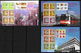 """+ HONG KONG (BRIT.) : Mi Bl. 49-51 Yv BF #44-46 Stamp Exhibition """"Hong Kong 97"""" (1997) MNH / *** Neufs 3 S/Sheets [SALE] - Stamps On Stamps"""
