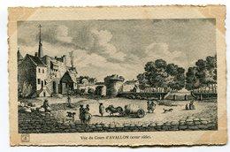 CPA  89  :  AVALLON   Cours  Au XVIII ème Siècle  VOIR  DESCRIPTIF   §§§ - Avallon