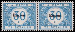 Belgium OC 0104-v** 30c Bleu - MNH - 2x La Variété - Guerre 14-18