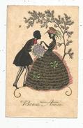 Cp , Contre La Lumière , Ombres , Couple , Bonne Année , Vierge , N° 8210 - Hold To Light