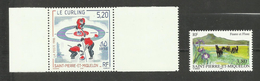 St -Pierre Et Miquelon N°670, 671 Neufs** Cote 4.60 Euros - St.Pedro Y Miquelon