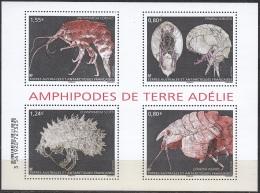TAAF 2017 Bloc Feuillet Amphipodes De Terre Adélie Neuf ** - Blocs-feuillets