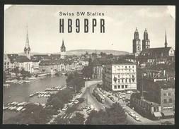 SWISS SW STATION QSL HB9BPR Funk-Karte ARRL USKA QRA Zürich - CB