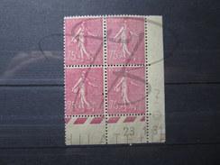 BEAUX TIMBRES DE FRANCE N° 202 EN BLOC DE 4 COIN DATE , X !!! - ....-1929