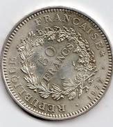 Pièce De 50 Francs En Argent De 1977 N° 3 - Francia