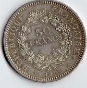 Pièce De 50 Francs En Argent De 1974 N° 2 - Francia