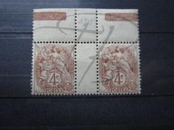 BEAUX TIMBRES DE FRANCE N° 110 EN PAIRE AVEC INTERVALLE + BDF , X !!! - 1900-29 Blanc