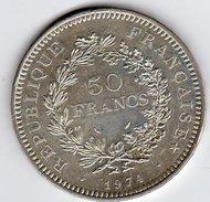 Pièce De 50 Francs En Argent De 1974 N° 1 - Francia