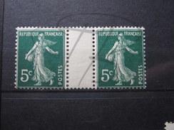BEAUX TIMBRES DE FRANCE N° 137 EN PAIRE AVEC INTERVALLE , XX !!! - 1906-38 Semeuse Camée